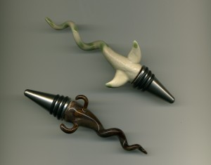 The first two wine stoppers
